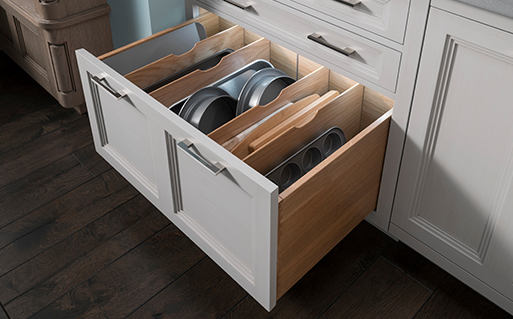 Drawer with partitions